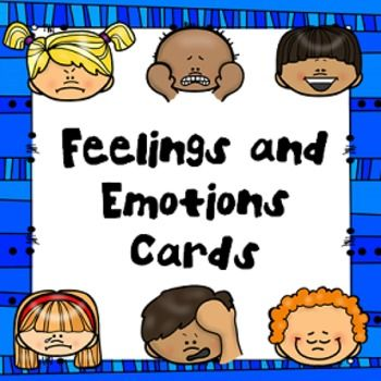 "These FREE printable cards help children identify their feelings and emotions! Adorable and diverse characters depict twelve emotions on bright colored cards. Black and white versions of these cards are also included. These cards complement any of the products in my Feelings Curriculum including my PRINTABLE BOOK: ""How do they Feel?"" The emotions on the cards include: → Angry → Happy → Excited → Sleepy → Proud → Shy → Scared → Sad → Embarrassed → Confused → Hurt ..."