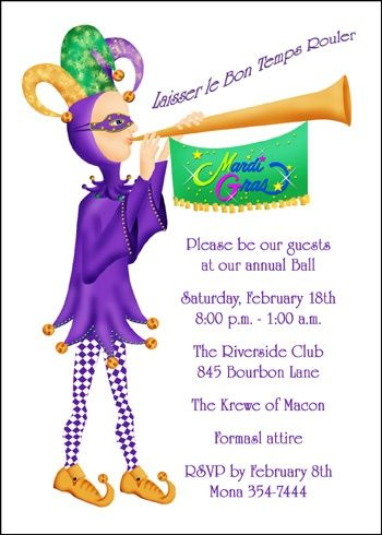 34 best mardi gras party invitations images on pinterest mardi mardi gra time party invites stopboris Image collections