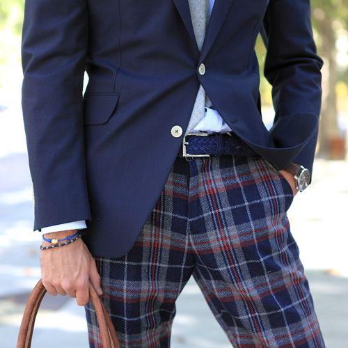I need plaid trousers.