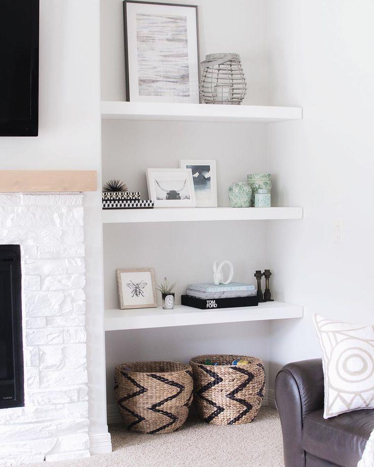 Best 10+ Floating shelves by fireplace ideas on Pinterest ...