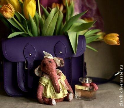 Слониха Бопо - брусничный,салатовый,слон,слониха,друзья тедди,авторская игрушка