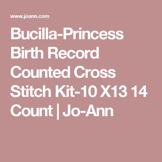 Bucilla-Princess Birth Record Counted Cross Stitch Kit-10 X13  14 Count | Jo-Ann