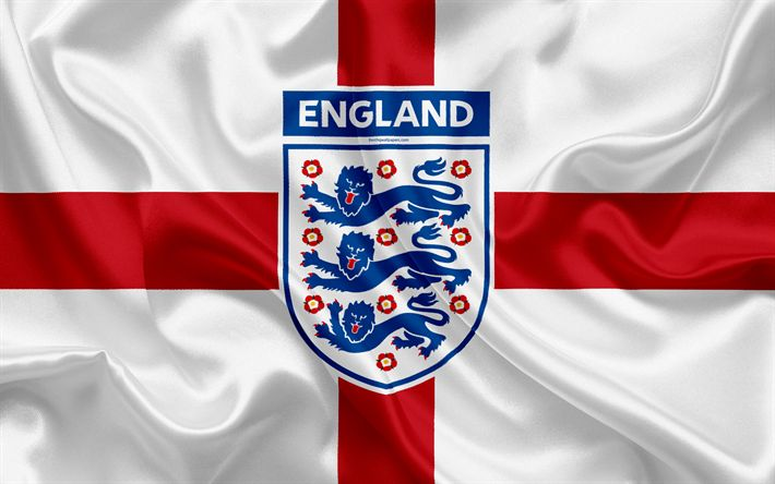 Download wallpapers England national football team, emblem, logo, flag, Europe, England flag, football, World Cup