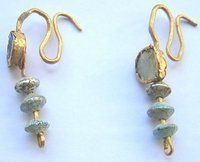 Ancient Roman glass earrings
