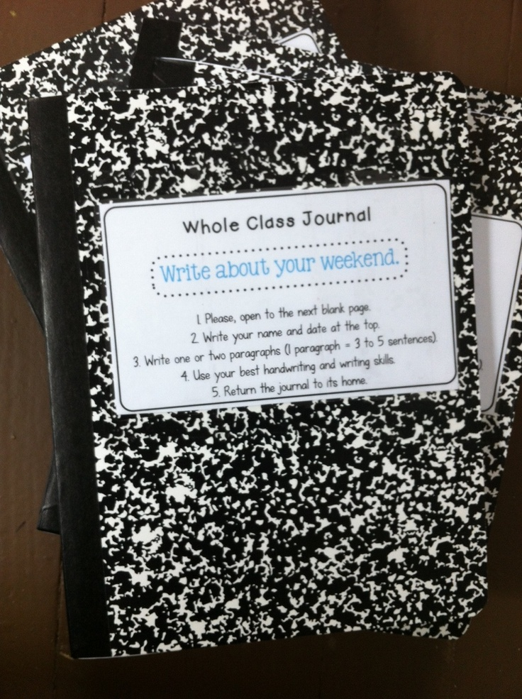 Classroom Journal Ideas ~ Whole class journals the school potato that s me