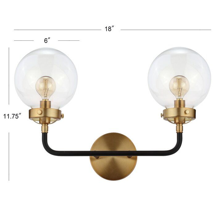 Claudio 2 Light Dimmable Armed Sconce Brass Wall Sconce Wall Lights Wall Sconce Lighting