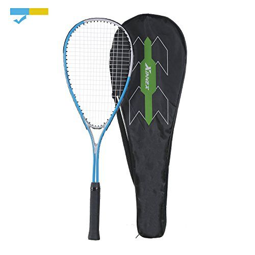 """Powerful Squash Racket Speed Badminton Racket for Beginners by Xinnex  Size:27"""" , Weight: 0.77lb  Alloy Steel Material Makes Squash Racket More Durable and Solid  Heavy Weight Racket Train Your Arm Muscles and Control Easily for Squash Beginners  Pre-strung by Processional Factory Worker with Polyester String, More Durable Than Nylon  GUARANTEE: We Offer a 30-Day Return and Replacement Service, Plus a 3 Year Limited Manufacturer Warranty. Please Don't Hesitate to Contact Us"""