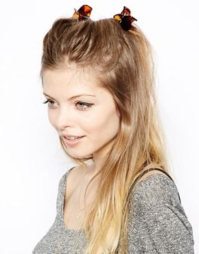 Image 1 ofASOS Pack of 4 Medium Hair Claws