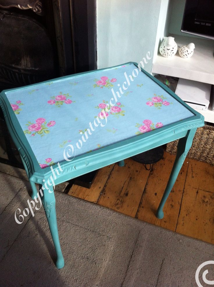 Shabby chic roses country side coffee table www.facebook.com/VintageChicHomeShabbyChicFurniture