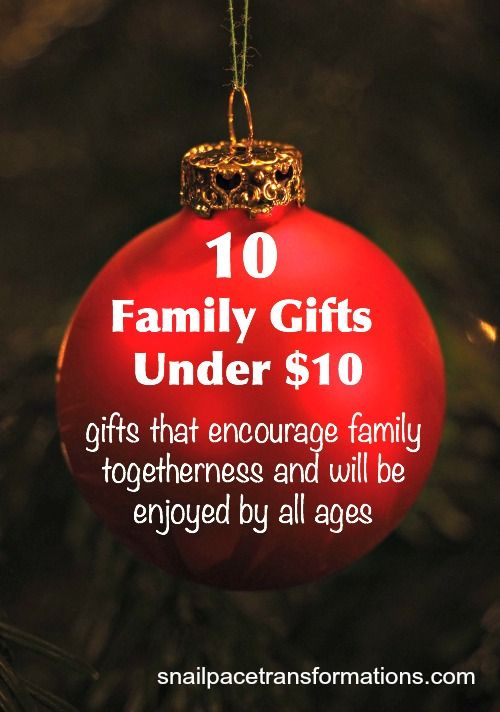 10 Family Gifts For Under $10 | Save More, Give More | Pinterest ...