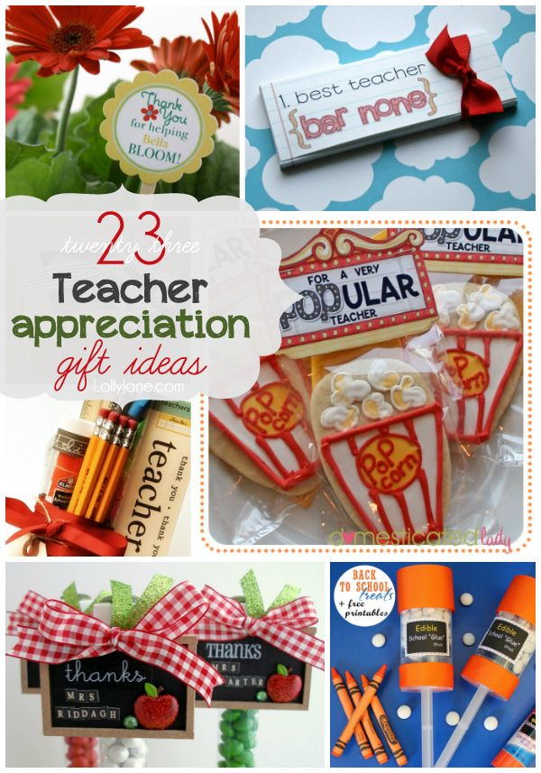 23 cute Teacher Appreciation ideas from LollyJane.com