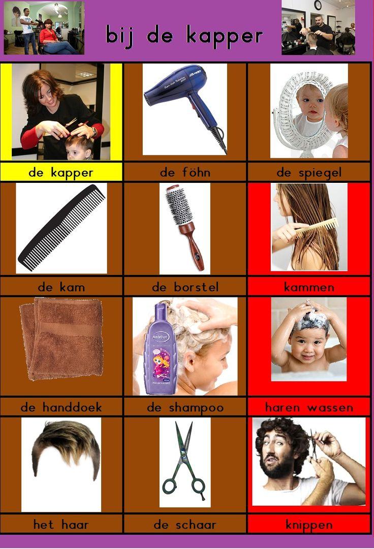 Woordkaartjes: bij de kapper