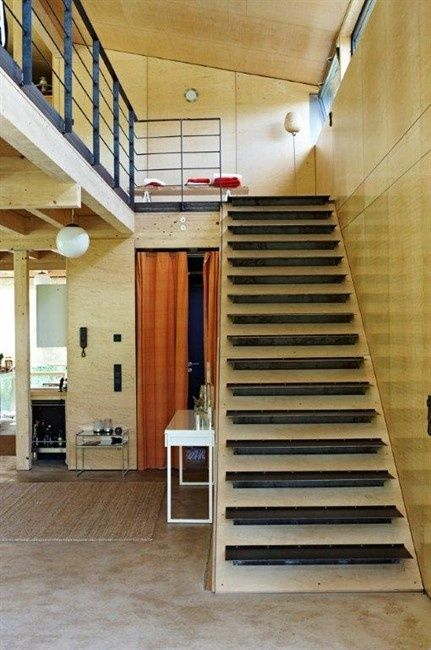 use bottom of a stair case to do incline pushups great effect wood