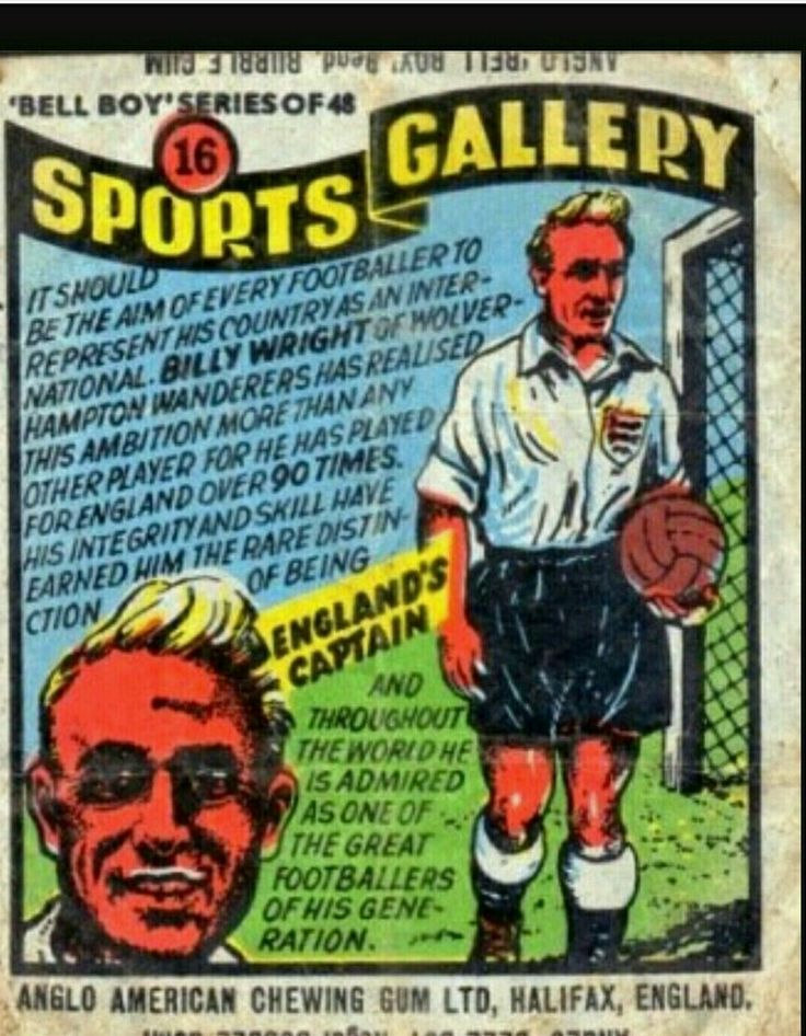 Anglo American Chewing Gum Co Billy Wright