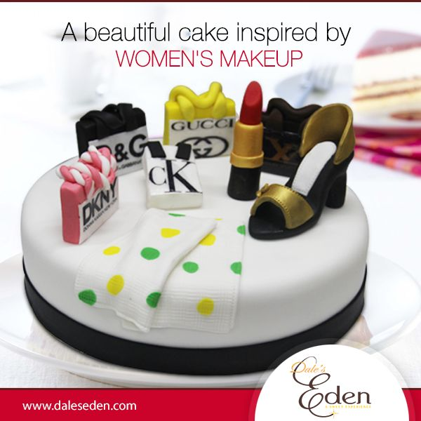 The most beautiful makeup of a women is passion, but cosmetics and accessories are easier to buy, even cakes don't deny it. wink emoticon ‪#‎Makeup‬ ‪#‎BeautifulMakeupCake‬ ‪#‎Easyuy‬  Buy Now- http://daleseden.com/cakes/env-24008-a.html
