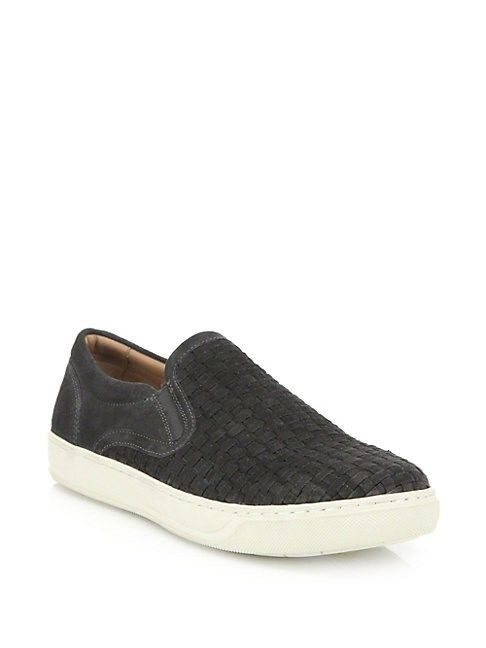 97cf5eabcb VINCE WOVEN SUEDE SLIP-ON SNEAKERS. #vince #shoes   Vince   Slip on ...