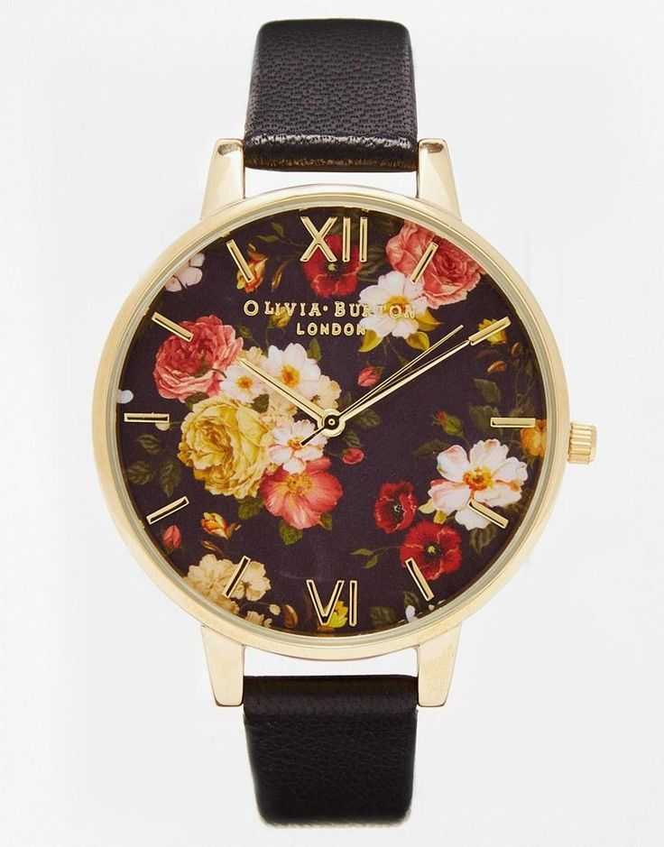 Olivia Burton | Olivia Burton Winter Garden Floral Oversize Dial Watch at ASOSBurchell Knight
