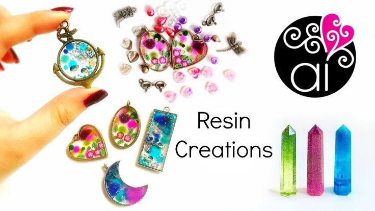 Nuove Creazioni in Resina   Ciondoli con cornice metallica, polvere fluo...