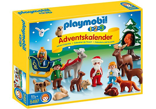 1.2.3 Advent Calendar Christmas in the Forest - 5497 - PLAYMOBIL® USA