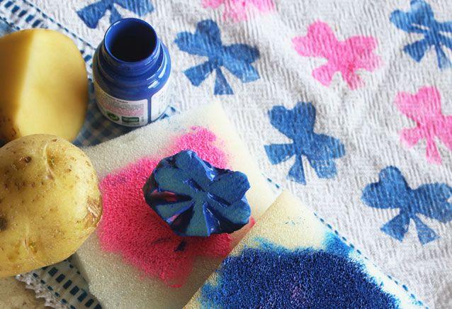 Carimbo de batata para estampar tecidos! | Blog do Elo7