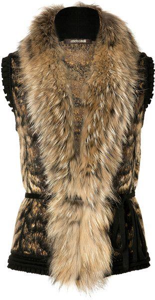 ROBERTO CAVALLI   Bronzewhite Fur and Knit Combo VestCavalli Bronze Whit, Fashion Style, Bronze Whit Fur, Knits Combos, Combos Vest, Roberto Cavalli, Fur Vest, Cavalli Bronzewhit, Bronzewhit Fur