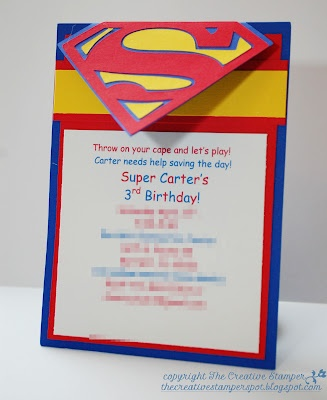 Superman Invitation