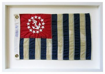 United States Power Squadrons Aged Flag  Wall Decor - by Karen Robertson traditional cable management