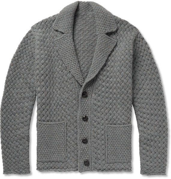Men's hand knit cardigan 41A