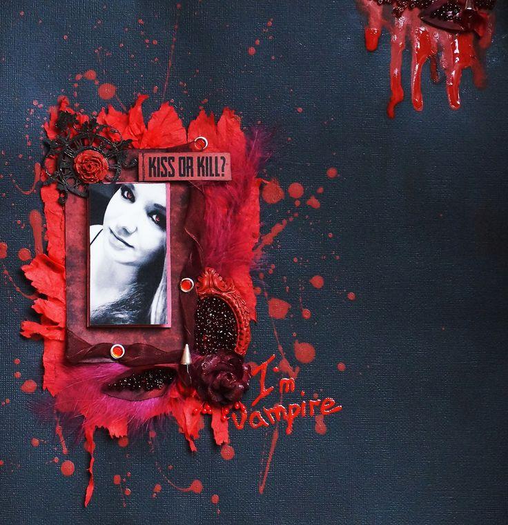 layout Halooween, Vampire, Blood