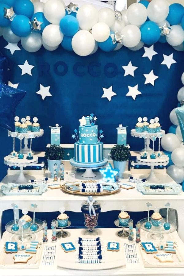 Stars Birthday Party Ideas Photo 1 Of 8 In 2020 Star Birthday Party Birthday Parties 1st Birthday Decorations