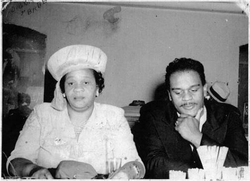 Marie Carter Bryant, Richard Pryor's grandmother, with her son Dickie in 1945.  Source:  Richard Pryor, Jr.s Facebook Page.