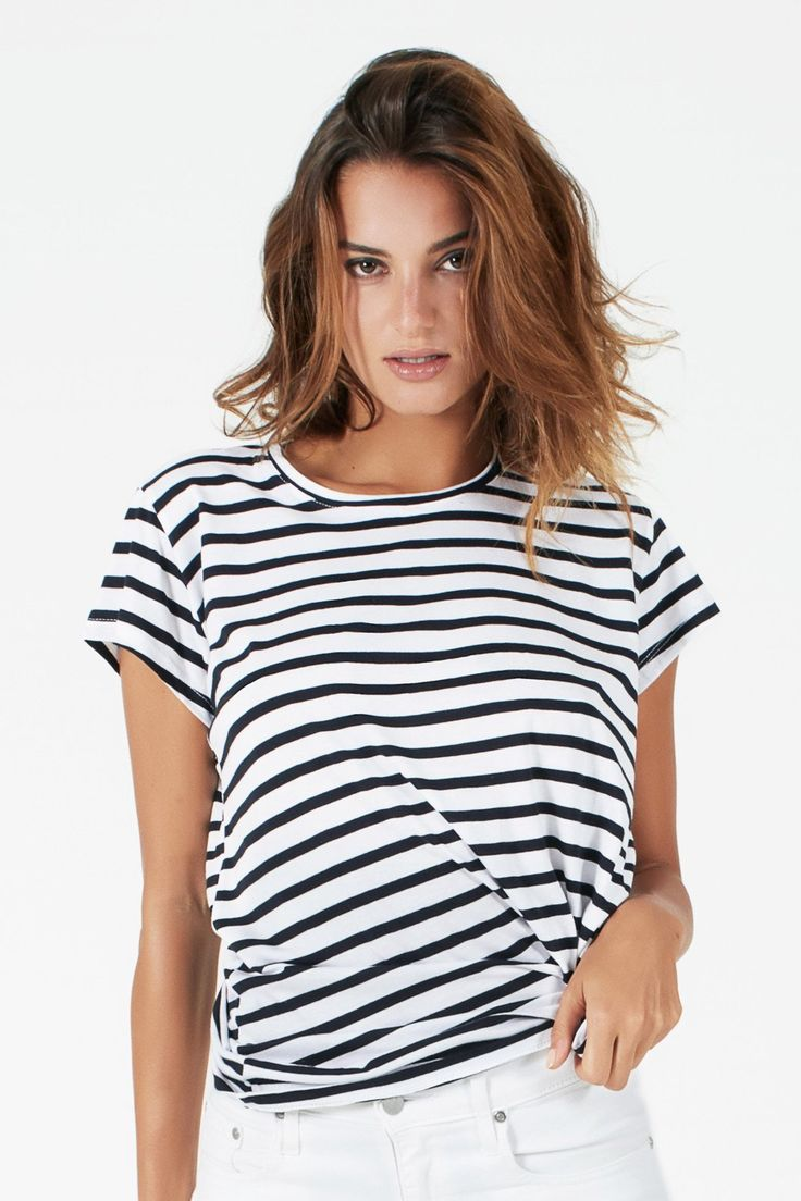 shop ethical sustainable -ethi -Crew Tee - Stripe
