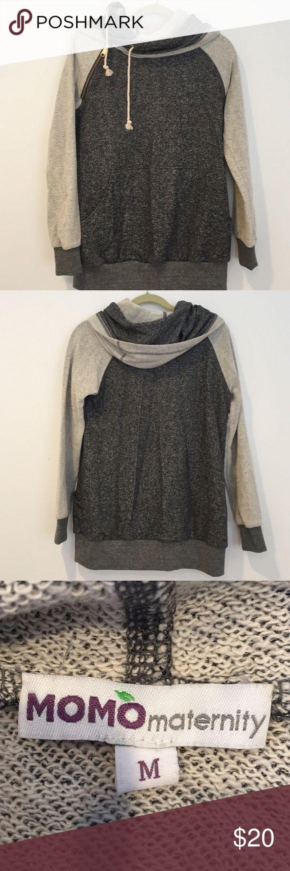 Momo maternity hoodie Worn once, perfect condition, cute hoodie! Momo Maternity Tops Sweatshirts & Hoodies