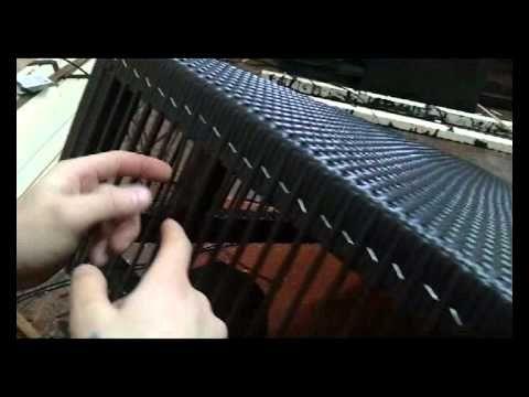 Изготовление мебели из искусственного ротанга - YouTube