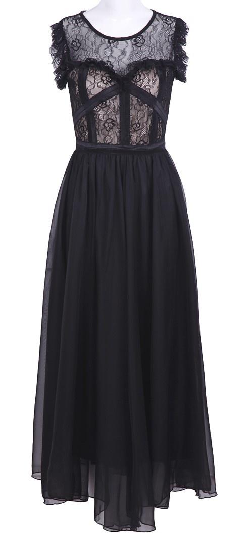 Lace Bustier Maxi Dress