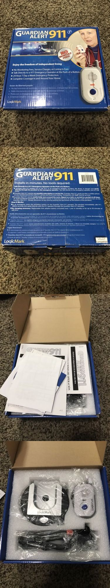 Emergency Alert Systems: Logicmark Guardian Alert 911 Emergency Alert System New Open Box -> BUY IT NOW ONLY: $50 on eBay!