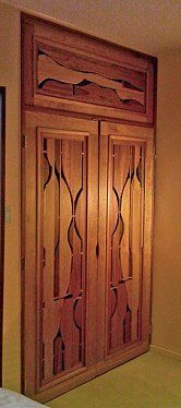custom designed Closet Door Barry Middleton of Pottsville PA http://www.yourwoodsongs.com