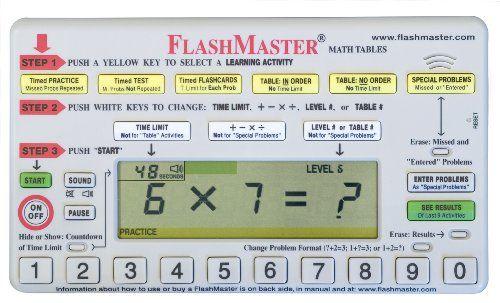 FlashMaster: Handheld computer for mastering multiplication tables that makes flashcards obsolete FlashMaster,http://www.amazon.com/dp/B0002MHMFM/ref=cm_sw_r_pi_dp_RDOgtb175KMKZ0ZN
