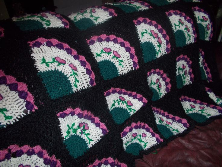 Fan Afghan Afghans Quilt Patterns Crochet