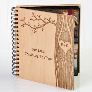Show your special someone just how much you care with the Carved In Love Personalized Photo Album. Find the best personalized romantic gifts at PersonalizationMall.com