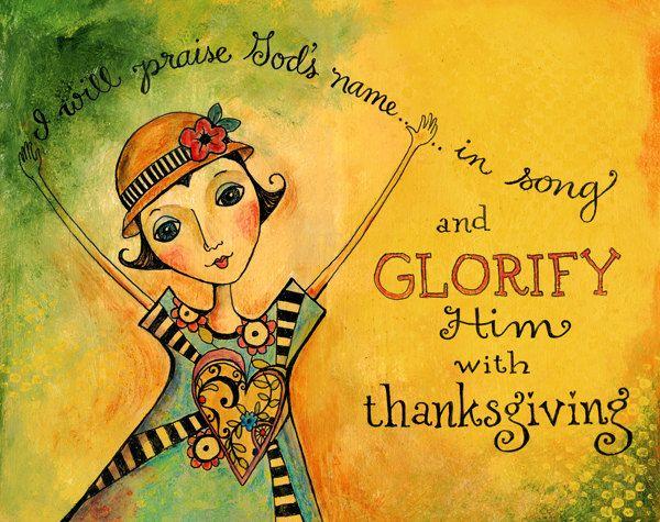Glorify Him 8x10 Scripture Bible Verse Acrylic Painting Art Print. $17.00, via Etsy.
