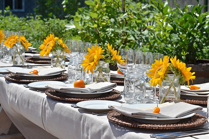 Farm Reception tablescape