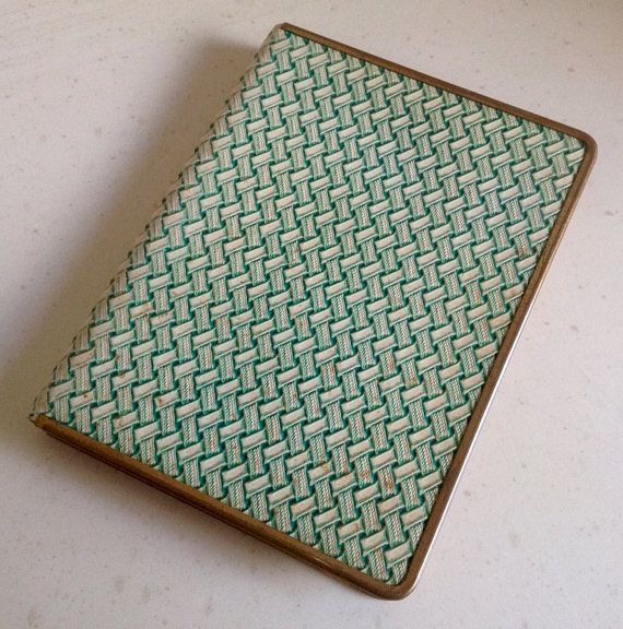Vintage Cigarette Case Perfection by Burney's of London Genuine Leather. Ideal Credit/Business Card Case. Measures  4inches  by 3.5inches.