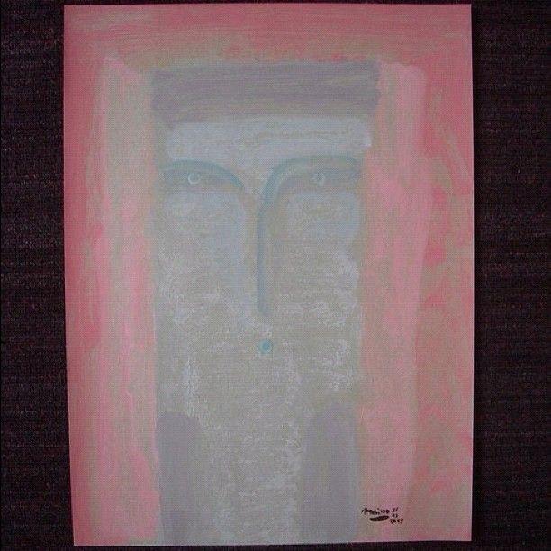 A moslem women. 2009.  Acrylic on paper.  40x30cm  $180