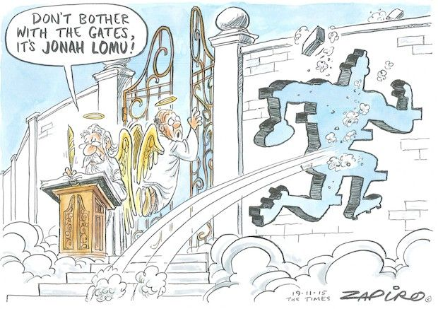 Jonah Lomu Obituary Cartoon RIP Jonah