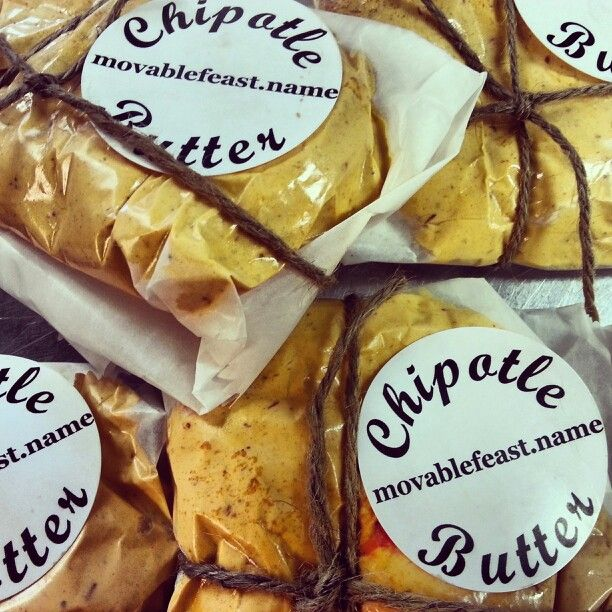 Chipotle butter for your fresh veggies