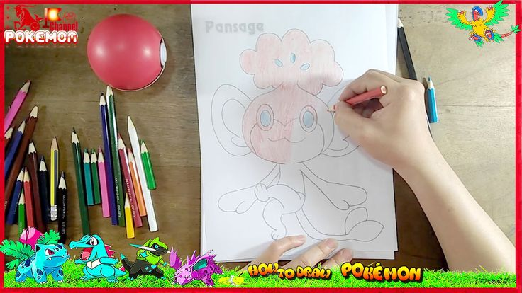 How to draw Pokemon Pansage Coloring Pages | Kids Song Drawing | Coloring Pokemon for Kids #pokemondrawings #howtodraw #cartoon #pokemon #4kids How to draw Pokemon Pansage Coloring Pages | Kids Song Drawing | Coloring Pokemon for Kids. Pansage is a simian green-and-cream Pokémon. It has oval black eyes large ears with light green insides and a tiny black nose. There is a broccoli-like sprout atop its head. In the sprout's foliage are three yellow tapered seed-like shapes. If eaten the leaves…