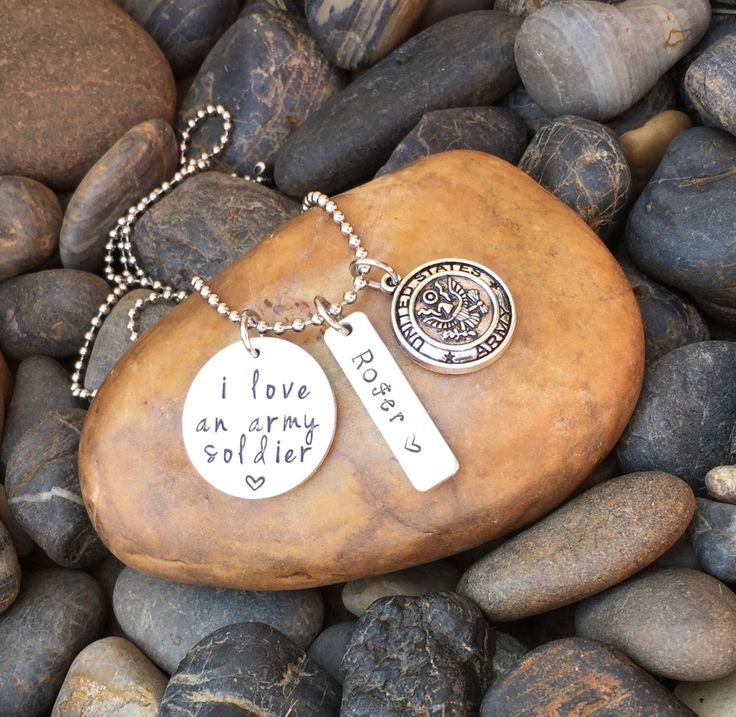 I Love An Army Soldier Necklace | Army Wife Necklace | Army Wife Jewelry | Army Girlfriend Necklace | Army Mom Necklace Jewelry Gift by SecretHillStudio on Etsy https://www.etsy.com/listing/452216298/i-love-an-army-soldier-necklace-army