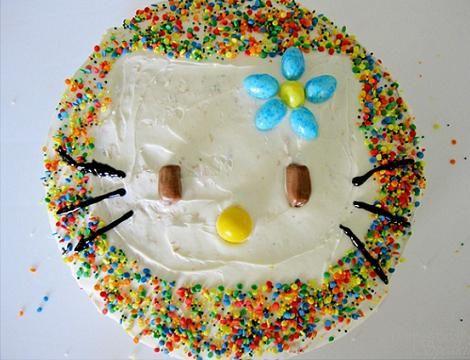 decoracion tarta infantiles hello kitty