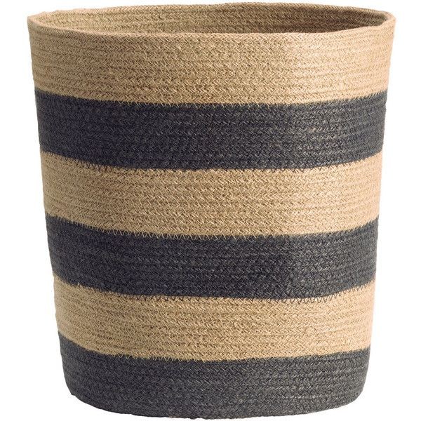 Jute Storage Basket $24.99 ($25) ❤ liked on Polyvore featuring home, home decor, small item storage and round storage basket